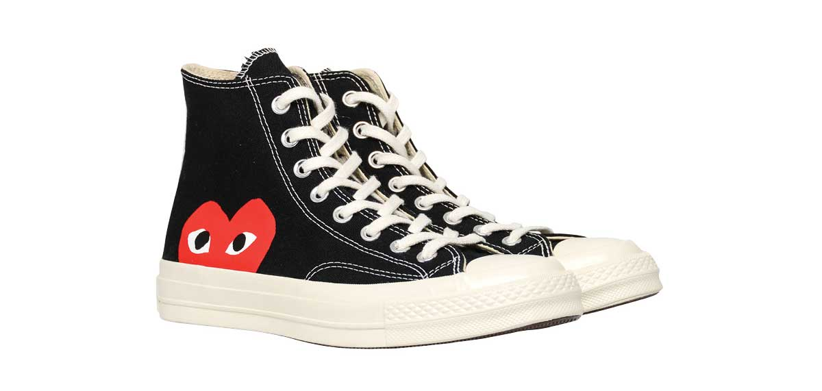 d7e97f7beb94 Impress the sneakerhead in your life with Converse and Comme des Garçons  Play high-tops.  180 at gravitypope