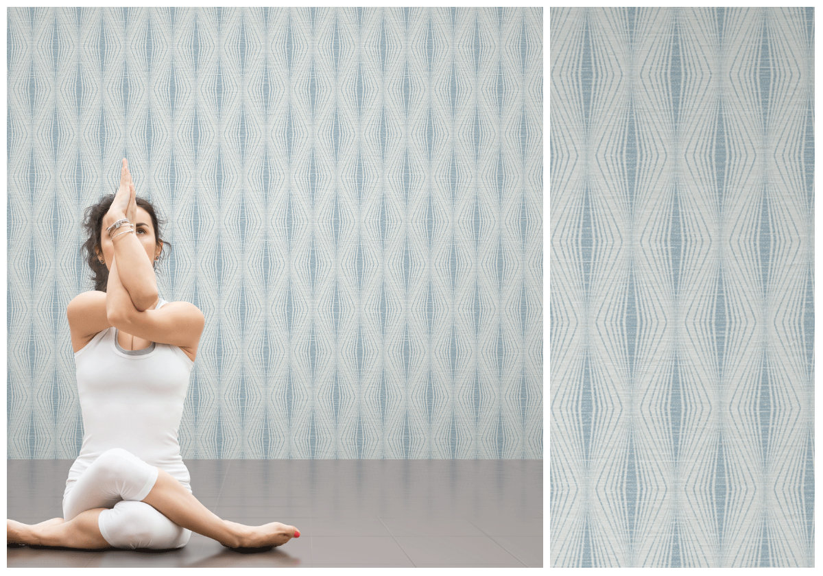 Namaste by Candice Olson fabric-backed vinyl wallcovering from Metro Wallcoverings.