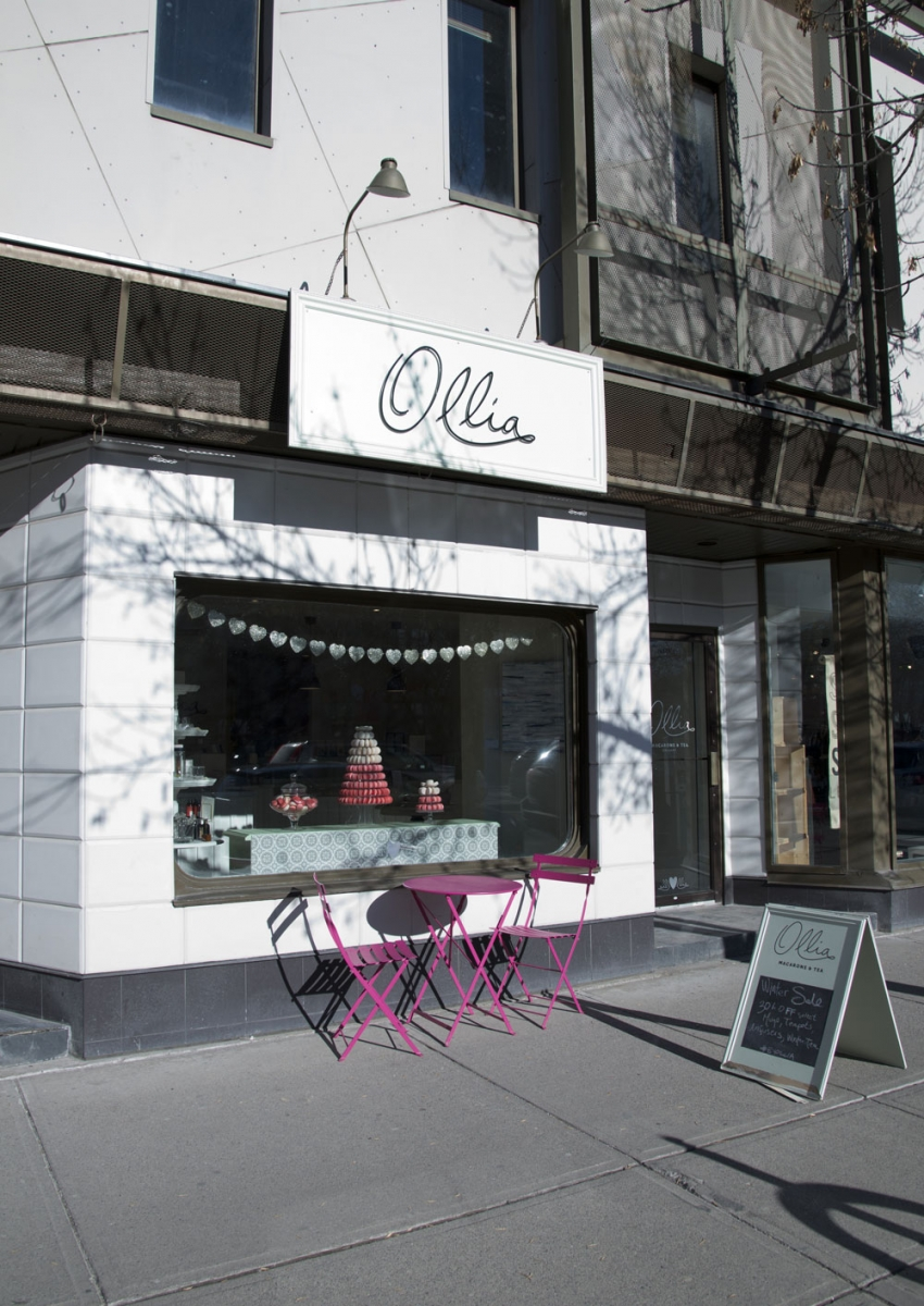 Located in Mount Royal Village, just off 17th Avenue and 8th Street S.W., Ollia Macarons & Tea has a perfect little terrasse to sit on and people-watch, Parisian-style, while you sip an in-house blended tea and nibble on some sweet treats.