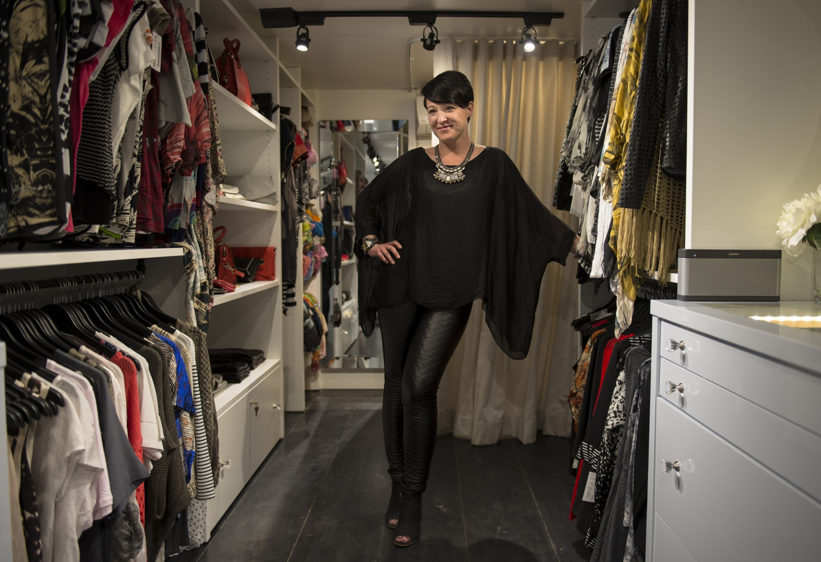 Nicki Prins (above) began planning Sublime Mobile Couture last year and is now bringing her mobile boutique all across Calgary.