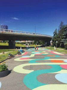 Local students are helping transform the 4th Avenue flyover space in Bridgeland.