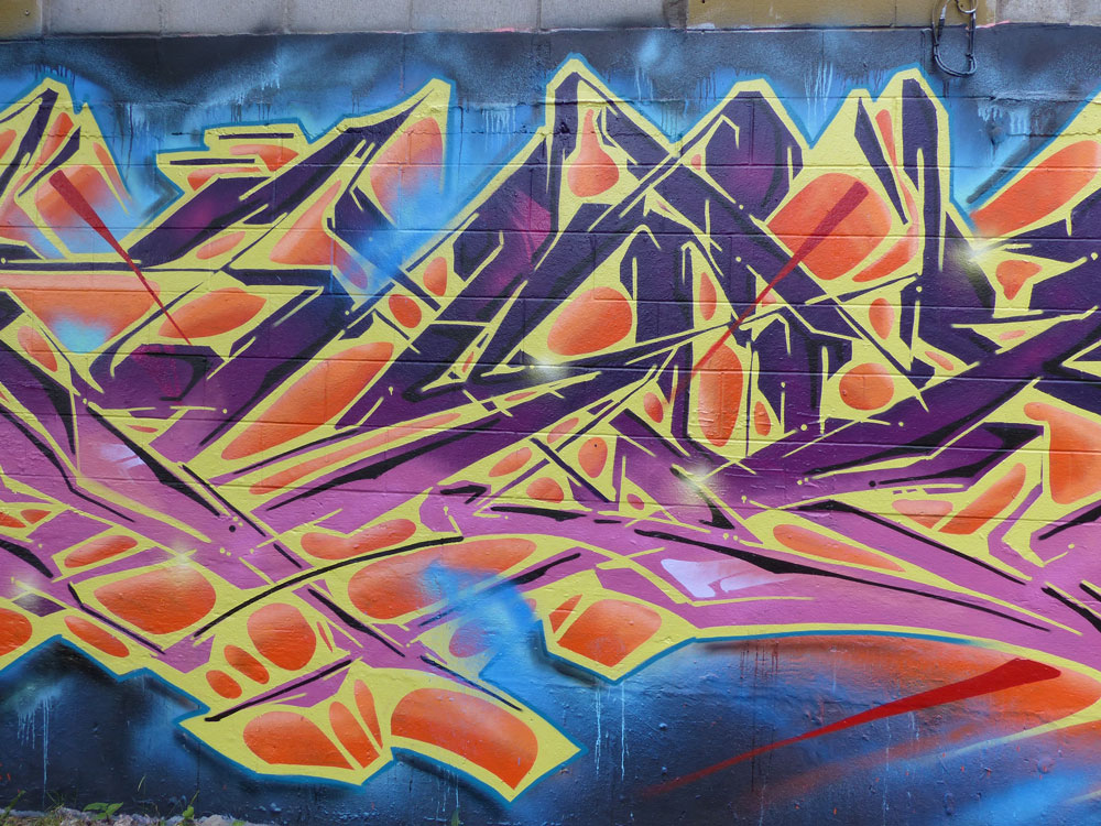 Graffiti art by the artist Afex.