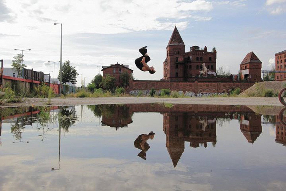 Backflipping in Berlin.