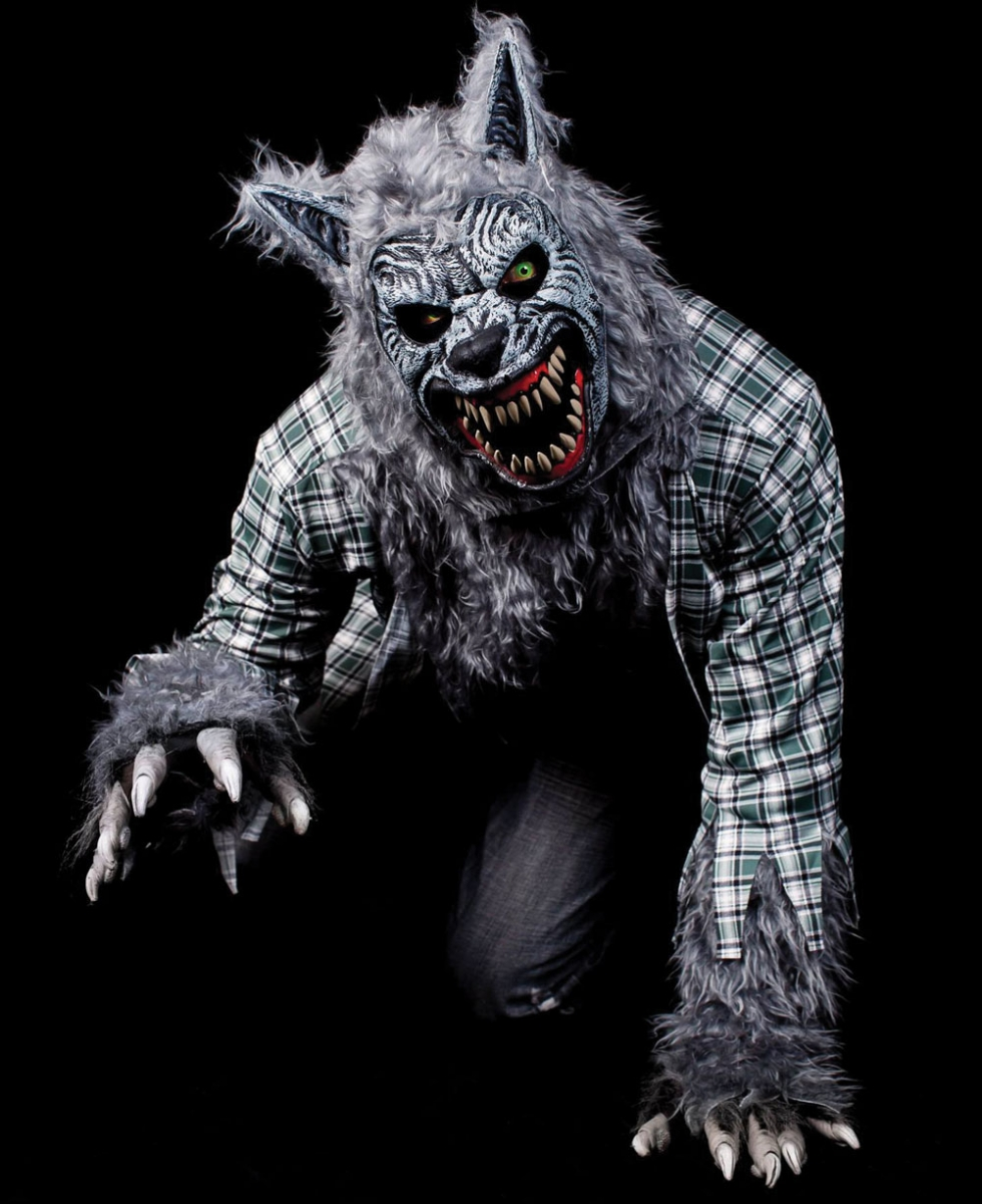 A werewolf from past years at the Rocky Ridge attraction.