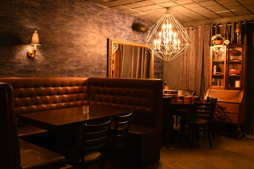 Inside the newly reinvented and rebranded Oak Tree Lounge.
