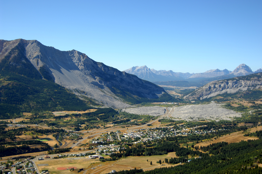 Turtle Mountain and Frank Slide.