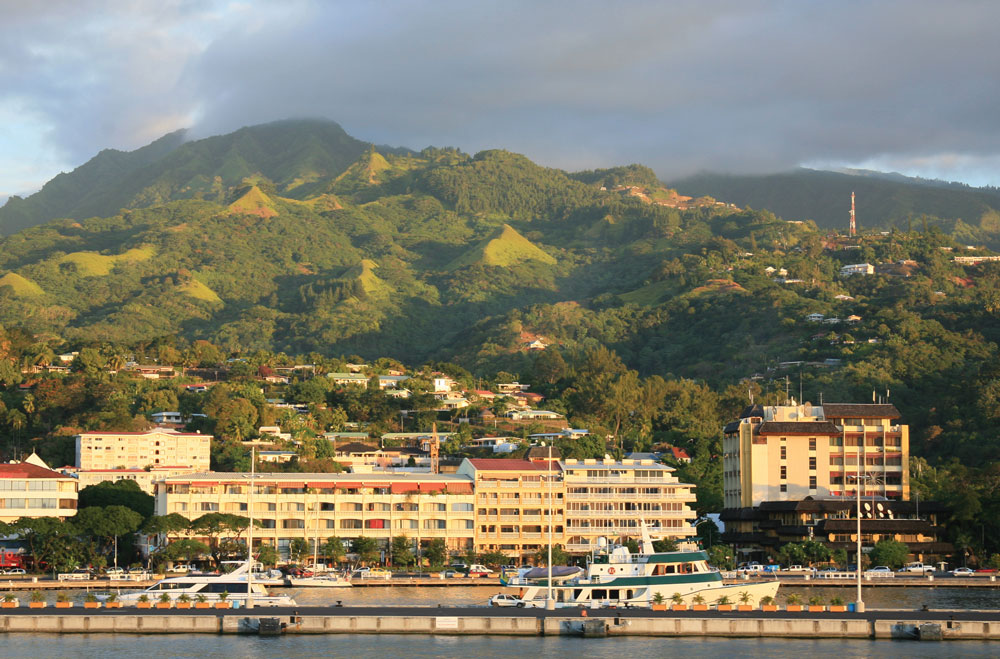 Papeete, the capital of French Polynesia.