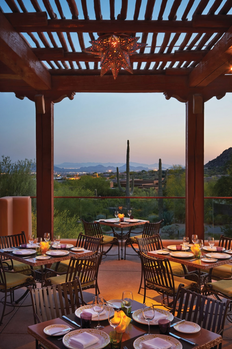Talavera Restaurant at Four Seasons Resort Scottsdale at Troon North.
