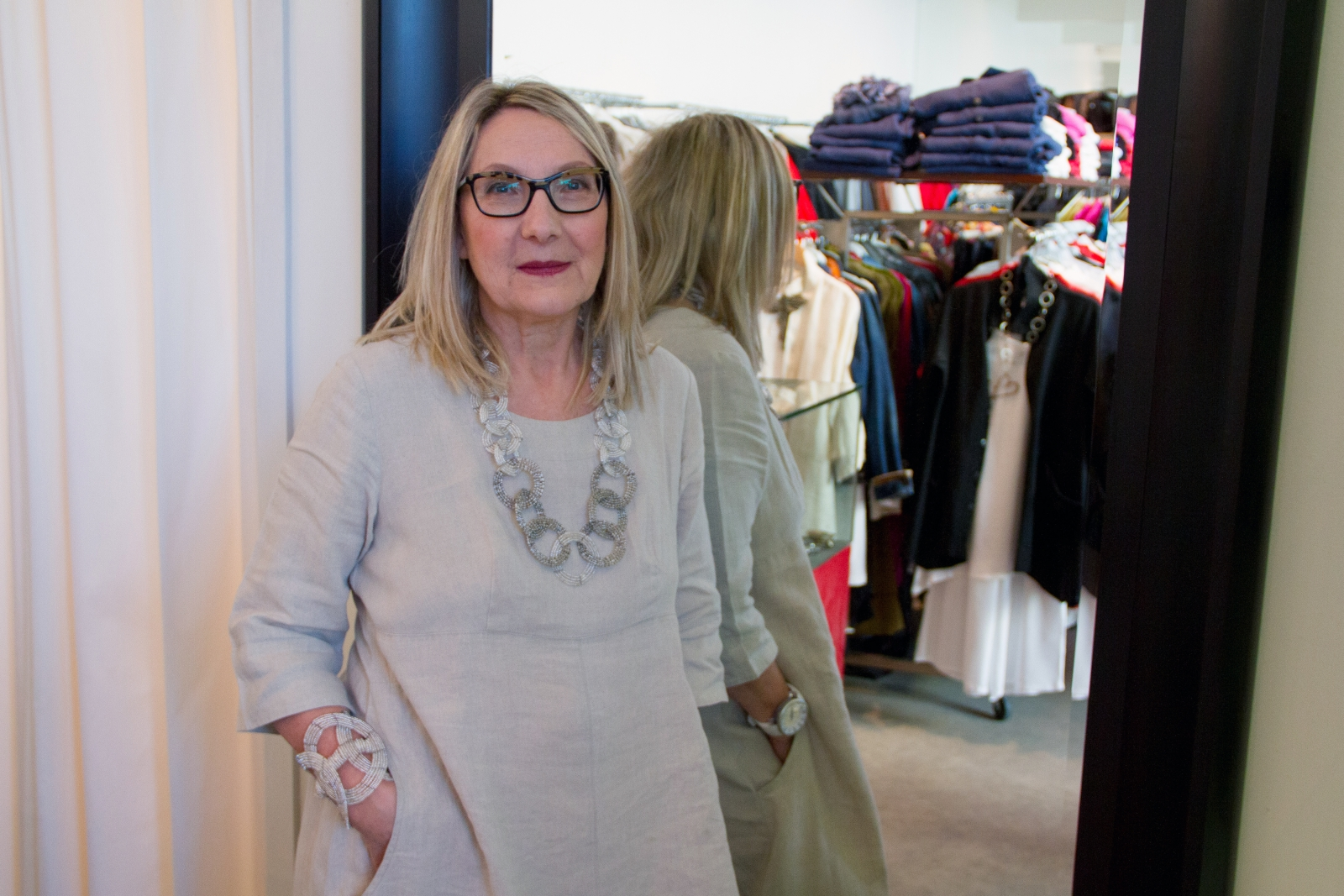 Nikola owner Sonja McDowell pictured at her Mission boutique.