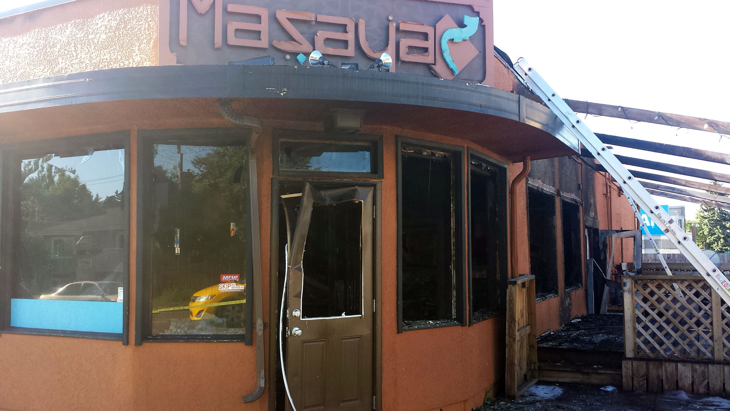 Mazaya Lounge after fire, June 6, 2017.