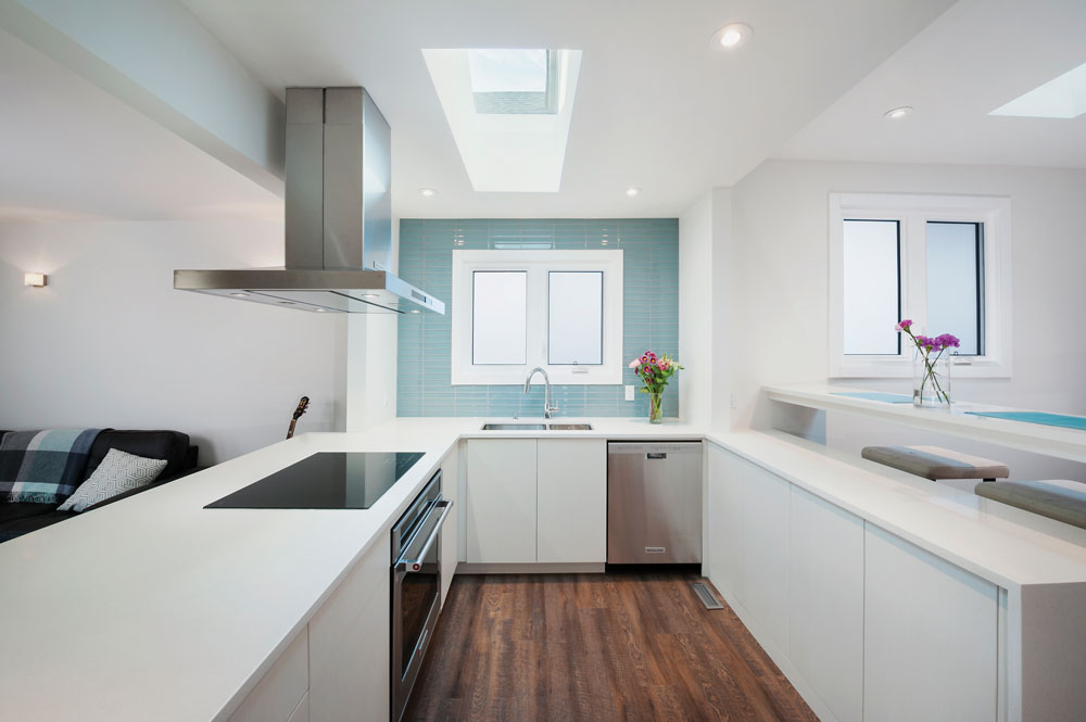 The clean lines of this kitchen renovation by Alloy Homes belie the planning that went into the update.