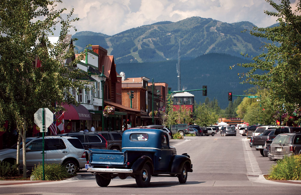 Central Avenue in Whitefish.