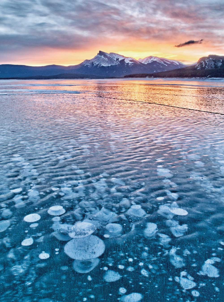 Abraham Lake at Aurum Lodge.
