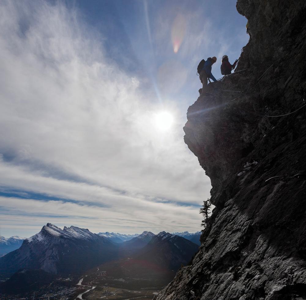 Via Ferrata at Mt. Norquay.
