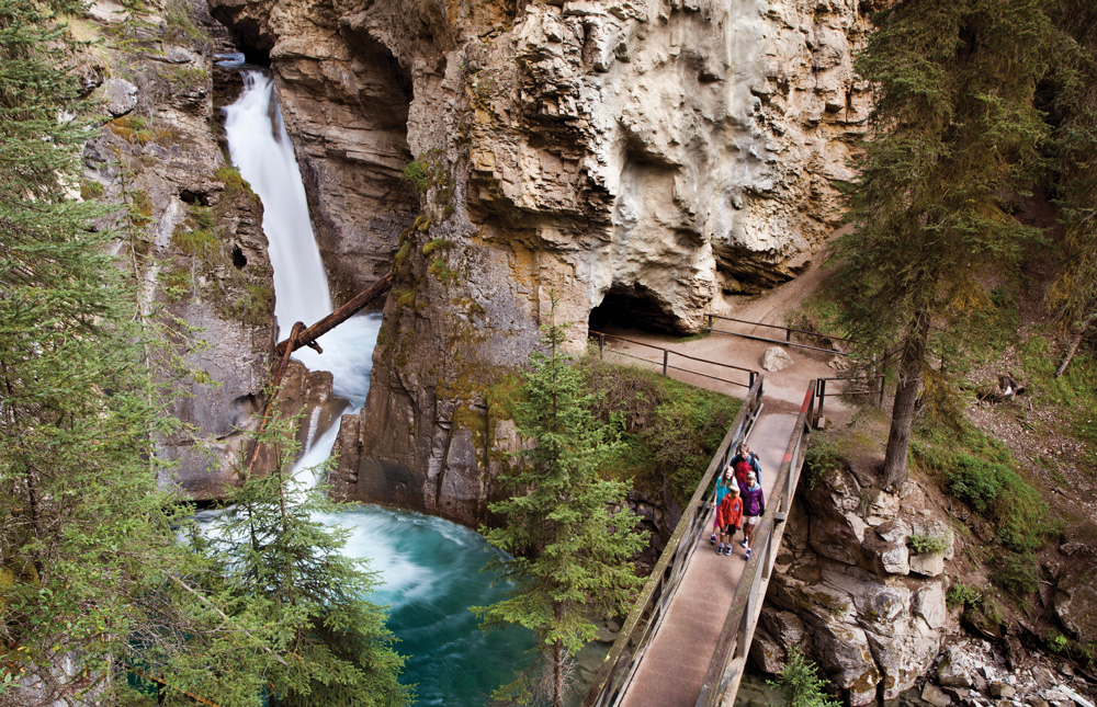 Johnston Canyon near Banff.