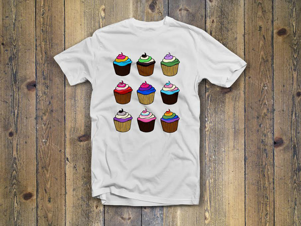 The cupcake design by Julia Tyler.