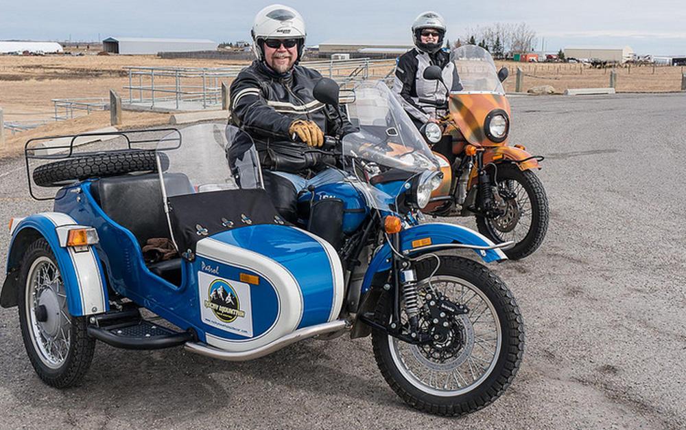 Warren Cummins and Nicole Egli of Rocky Mountain Sidecar Adventures.