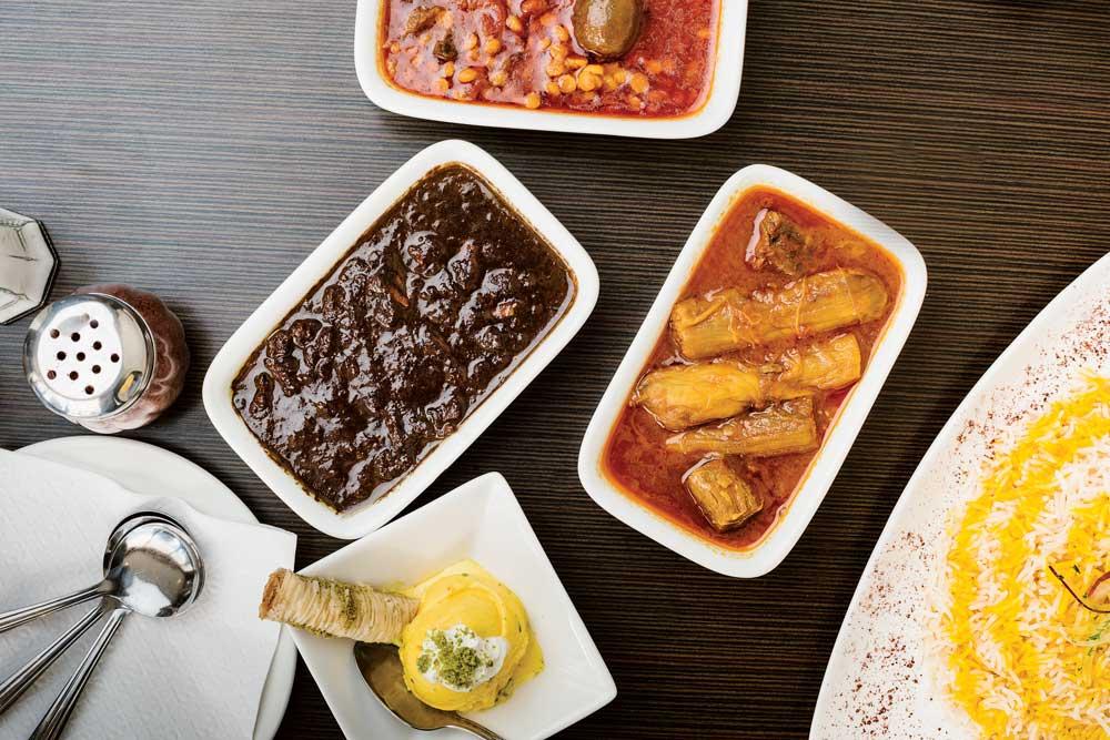Khoreshtsampler from Atlas Specialty Supermarket & Persian Cuisine.