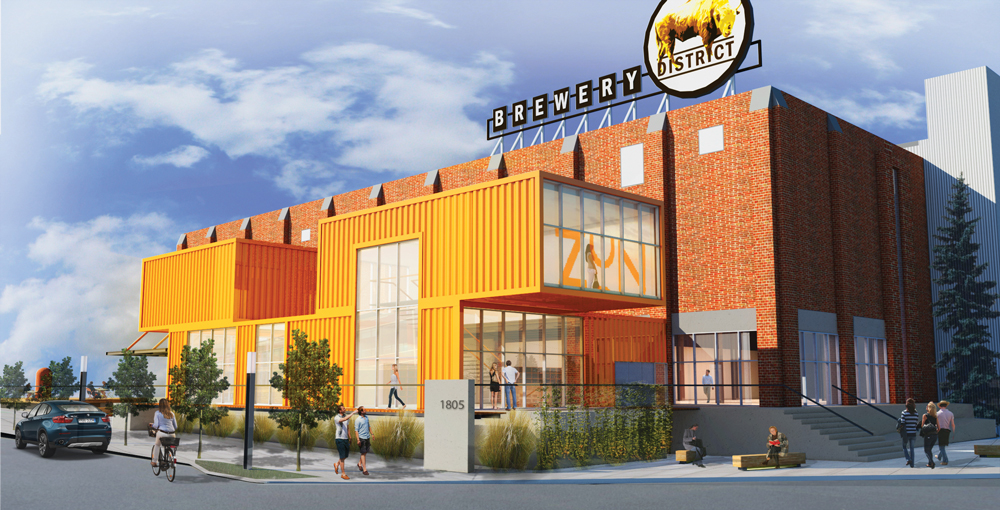 Rendering of a proposed redevelopment for the Calgary Brewery site.