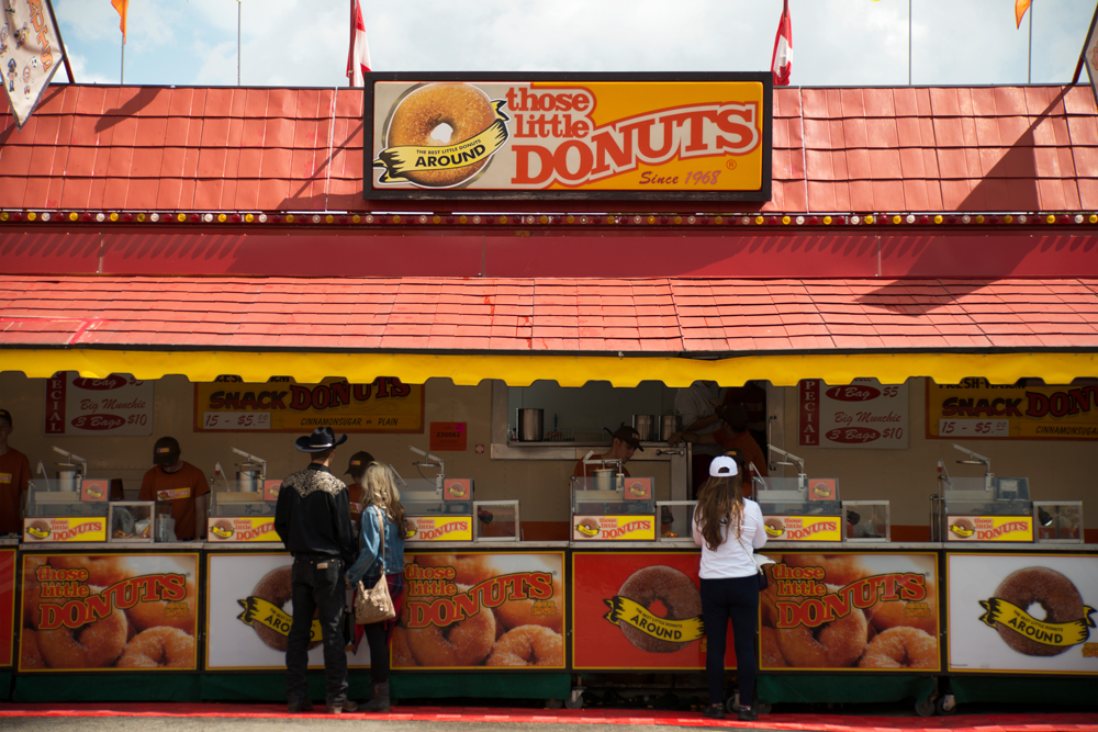 Every Stampede veteran has their favourite mini doughnut booth. The one near the Erlton Entrance Gate? Or the one closest to Weadickville? Either way, no visit to the Stampede is complete without at least one little bag of cinnamon-sugar dusted treats.