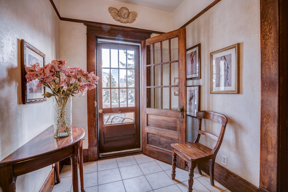 The property includes original woodwork throughout.