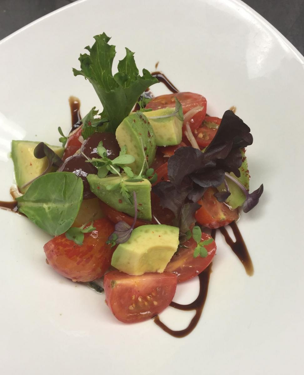 The tomato salad at Candela.