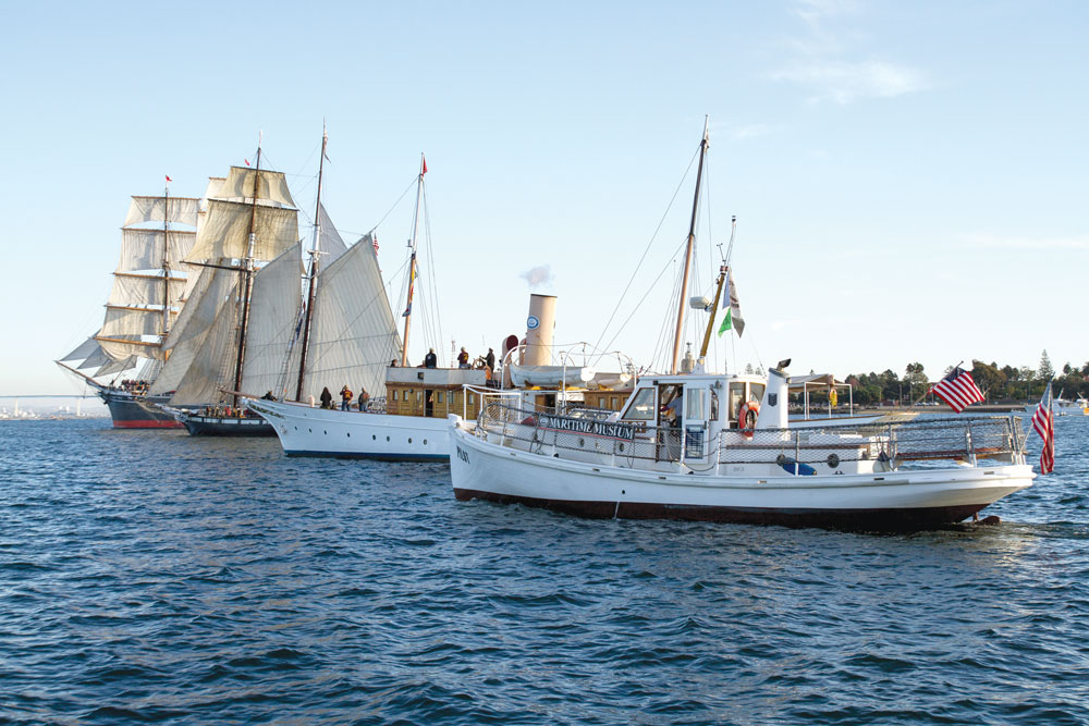 Tall ships and other historic vessels at the Maritime Museum.