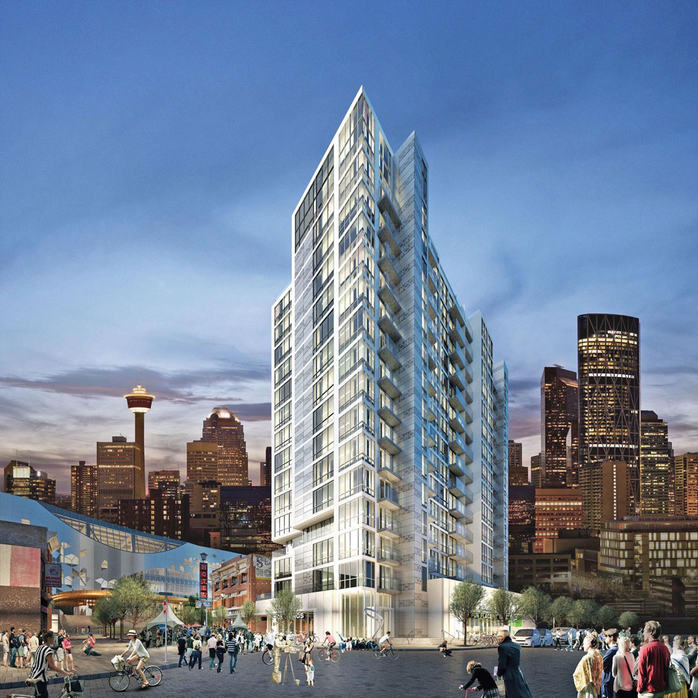 N3 in the East Village will be a hub of urban living, with space-conscious floor plans and no titled parking stalls.