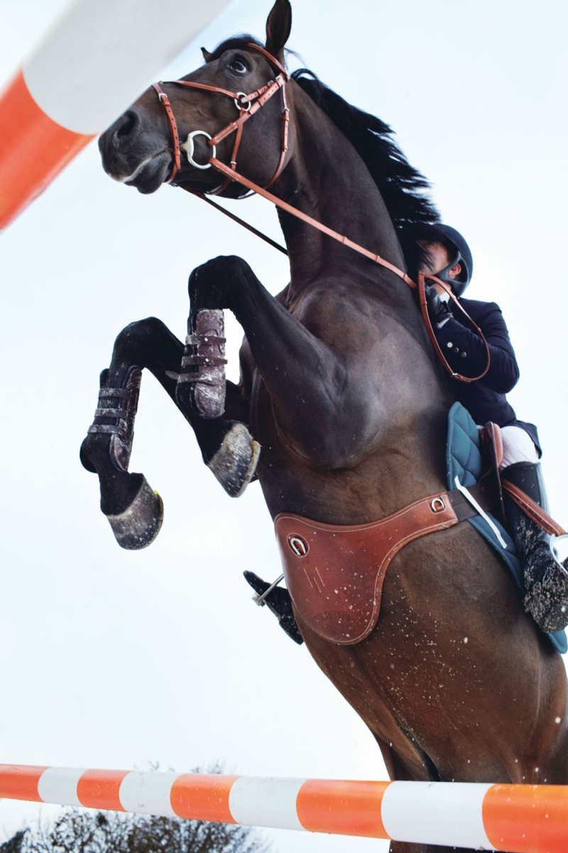 The Hermès Rider's Warm-Up Ring will be outfitted with custom Hermès jumps.