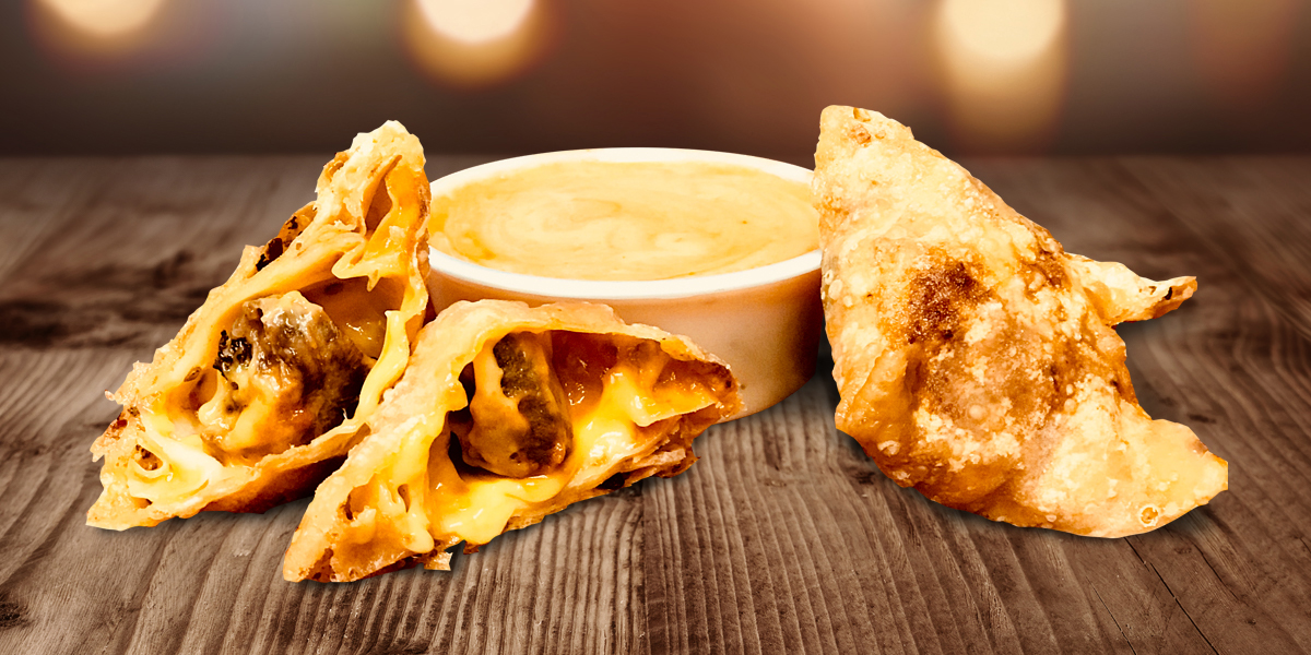 Chicken hearts inside a crispy, cheesy pocket actually sounds pretty tasty.