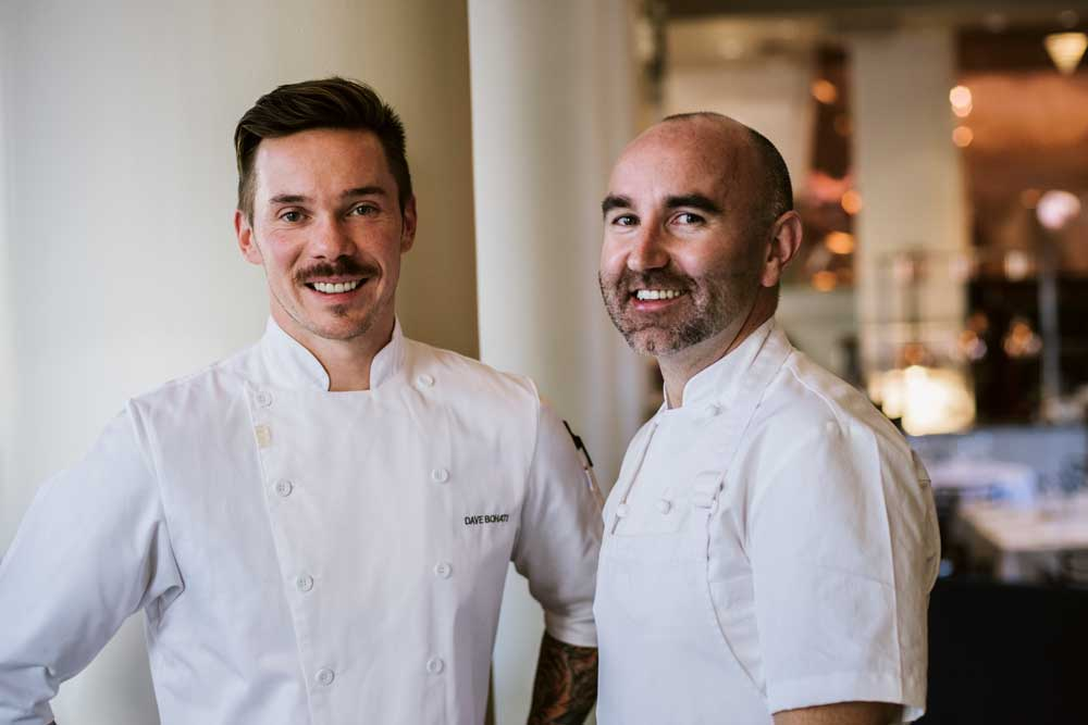 Teatro chef de cuisine Dave Bohati and Teatro Group corporate executive chef Matthew Batey.