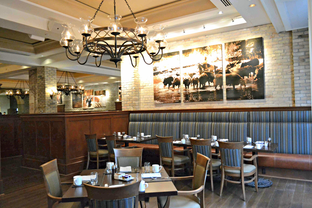 Thomsons in the Hyatt offers upscale Canadian cuisine and free underground parking.