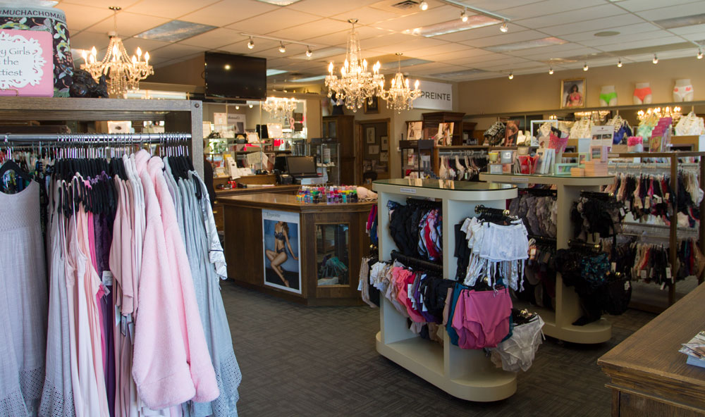 The interior of Knickers 'n Lace.