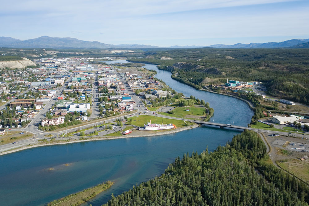Aerial view of Whitehorse.