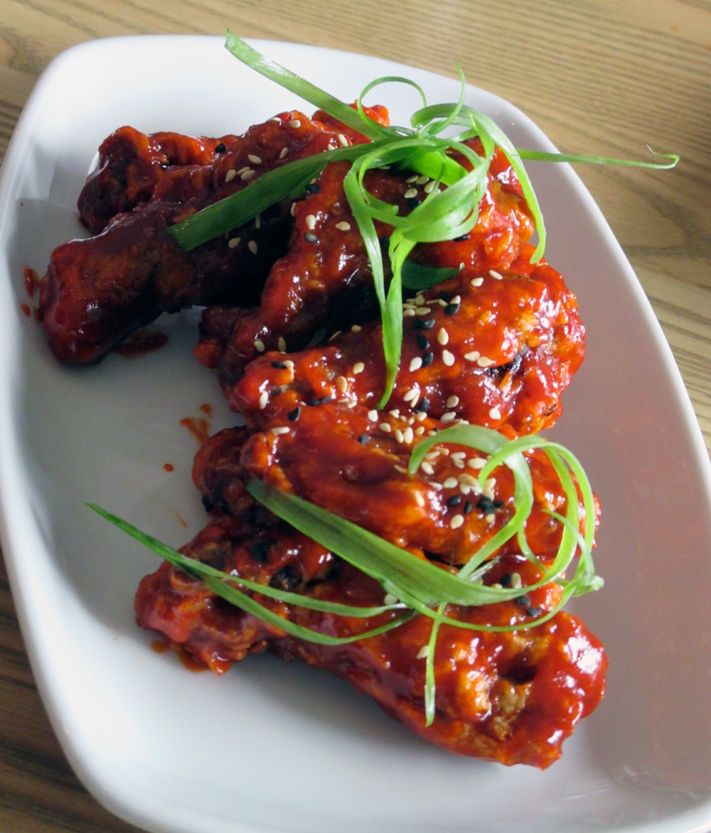 The Sunworks chicken wings come in flavours including salt and pepper, sesame honey garlic, serrano soy and the popular gochujang.